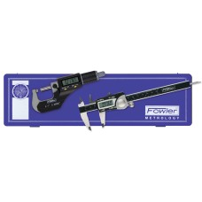 "54-004-850 Fowler 6""/1500 Electronic Caliper & Micrometer Measuring Set"