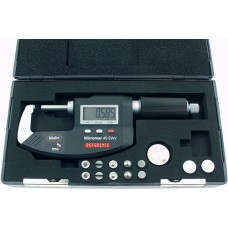 "Micromar 40 EWV 4151722 Mahr Digital Micrometer with Sliding Spindle, Reference System, IP52 Protection, MarConnect, 0-25mm / 0-1"" - Standard Accessories Not Included"
