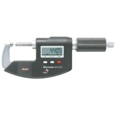 Micromar 40 EWS 4151724 Mahr Digital Micrometer with Sliding Spindle, Reference System, IP52 Protection, MarConnect, 0-25mm / 0-1""