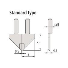 07CZA056 Mitutoyo Standard Type Jaw for Series 552 Caliper