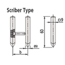 07CZA061 Mitutoyo Scriber Type Jaw - Inch for Series 552 Caliper