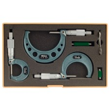 103-922 Mitutoyo Outside Micrometer 3 Piece Set 0-3""