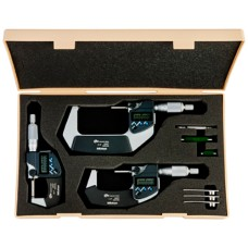 """293-960-30 Mitutoyo MDC 3 Piece Electronic Micrometer Set with SPC Output 0 - 3""""/ 0 - 76.2mm"""