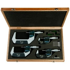 """293-961-30 Mitutoyo MDC 4 Piece Electronic Micrometer Set with SPC Output 0 - 4""""/ 0 - 101.6mm"""
