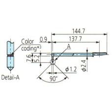12AAB414 Surftest SJ-410 Stylus 3X for Deep Hole - Double-Length and Triple-Length, 5µm