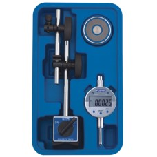54-585-075-0 Fowler Fine Adjust Mag Base Set with Indi-X Blue Electronic Indicator