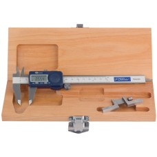 """54-008-715-0 Xtra-Value Caliper and Depth Attachment Combo with Wooden Case 6""""/150mm"""