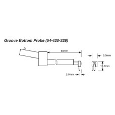 """54-420-328-0 Fowler Groove Bottom Probe for X-Pro .0004"""""""
