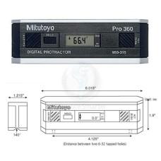 950-317 Mitutoyo Pro 360 Digital Protractor