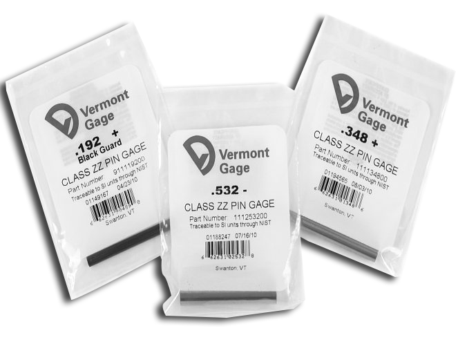 Vermont Gage Replacement Pin Gages